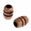 Metal Barrel 5X7.4x2.6mm Antique Copper